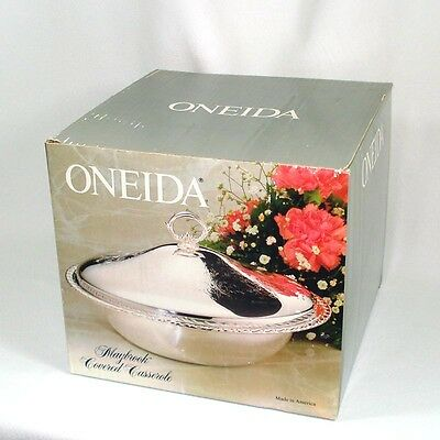 Oneida Maybrook Silverplate Casserole Mint in Box