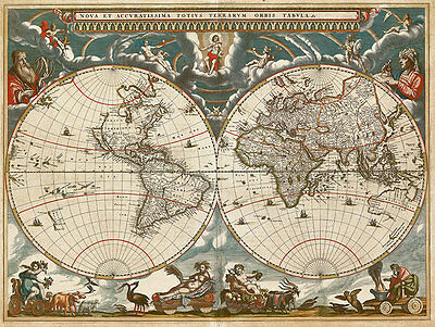 World 1664 A2 High Quality Canvas Print