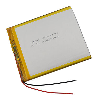 Rechargeable Polymer Li ion Lipo battery 3.7V 5000 mAh for GPS Tablet PC 4594105