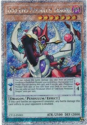 Odd-Eyes Pendulum Dragon (CT12-EN001) - Platinum Secret Rare - Near Mint