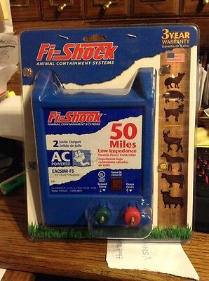 Fi-Shock EAC50M-FS Electric Fence Energizers, 50 Mile. NEW.