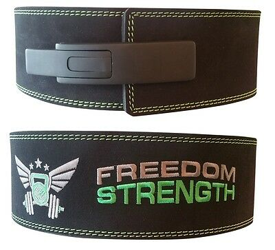 Freedomstrength® IPF Pro Powerlifting weight lifting belt lever lock buckle