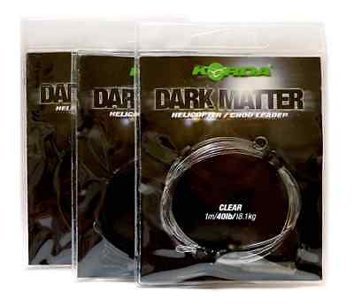 Korda Carp Fishing NEW Dark Matter Helicopter/Chod Leader 1m 30lb - All Colours