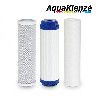 "10"" HMA Water Filter Replacement Set - Sediment SGAC/KDF Activated Carbon Block"
