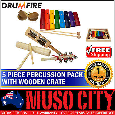 New Drumfire 5-Piece Educational Hand Percussion Pack