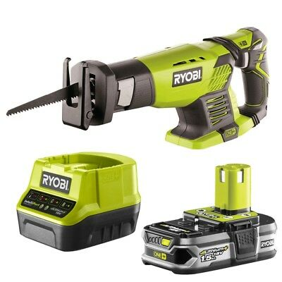 Ryobi ONE+ 18V Cordless 22mm Reciprocating Saw with 1.5Ah Lithium+ Battery and S
