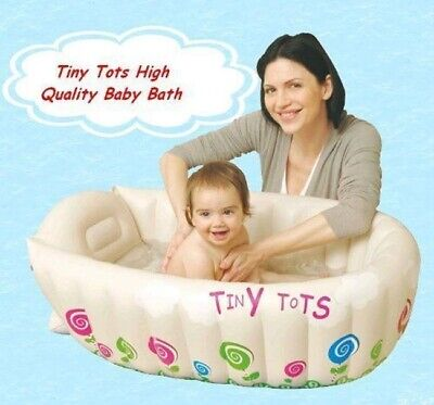 Tiny Tots Inflatable Baby Bath Tub Heat Sensor Travel Infant Washing Tub Jilong
