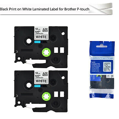 2 PK Black on White TZ 231 TZe 231 Label Tape Compatible for Brother PT1090 1200