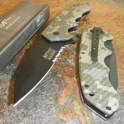 M-TECH Digital Camo SPRING ASSISTED OPEN Pocket Folding RESCUE HUNTING KNIFE