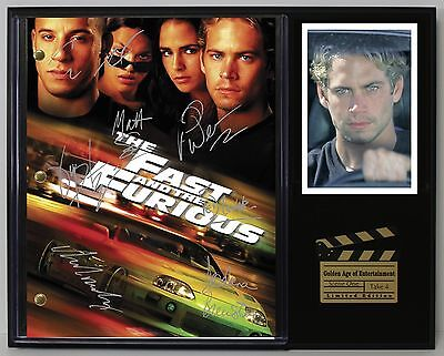 The Fast & The Furious Reprint Autograph Hollywood Script Display US Ships Free