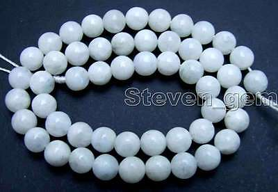"""SALE Round 8mm Natural High quality Moonstone gemstone Beads strand 15""""-los601"""
