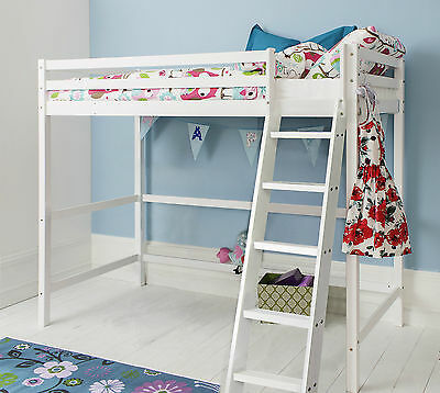 High Sleeper Cabin Bed Kids Bed in White Texas