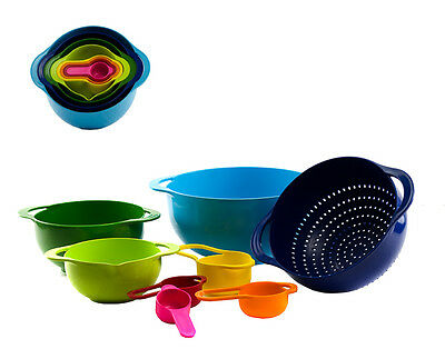 Livvi 8 Piece Multi-Coloured Mixing Bowl & Measuring Cup RRP $39.95