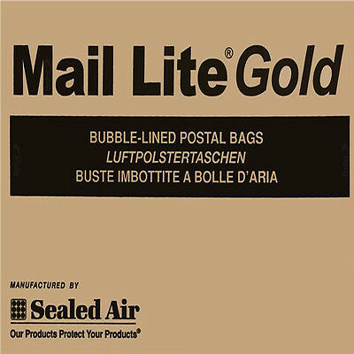Mail Lite Sealed Air ~ Gold Bubble Padded Postal Envelopes ~ ALL Sizes Available