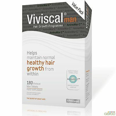 Viviscal Man Max Strength Hair Supplement Nourishment 3 Month Supply 180 Tablets