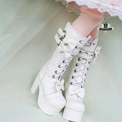 Foot Size 5.6cm SHM049CHY MSD 1//4 Bjd Doll Shoes 7.5cm High Hill Boots Cherry