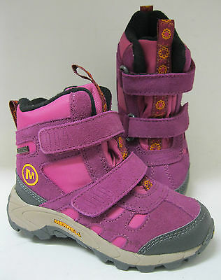 Merrell infant girls snow boots. Moab Polar mid. Purple suede.