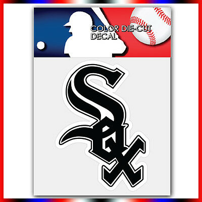 "Chicago White Sox MLB Die Cut Vinyl Sticker Car Bumper Window 4""x3"""