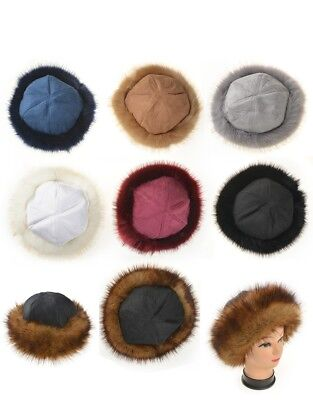 Faux Fake Fur Hat with Fleece Russian Cossack Winter Ladies Women fashion style