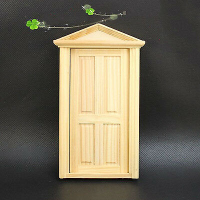 Best 1:12 Scale Doll House Miniature Classical Furniture Wooden Door DIY Toy