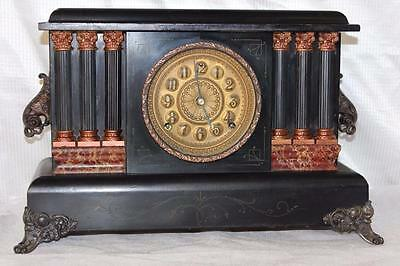 Antique Sessions 8 Day Mantle Clock In Good Running Order