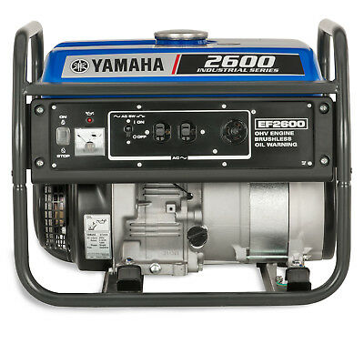 Yamaha EF2600 2,600 Watt Gas Powered Portable RV Home Backup Power Generator