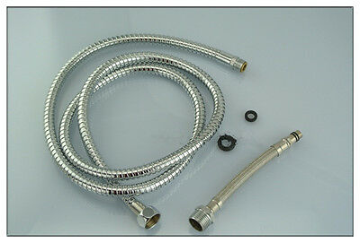 """Pull Out Spray 150m 60"""" Hose For Kitchen Sprayer Head Chrome Basin Faucet SUS"""