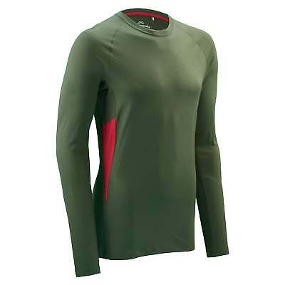 Kathmandu Tolmer Mens Merino Wool Long Sleeve Round Neck Hiking Top v2 Green New