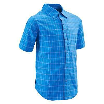 Kathmandu Patos Boys Light Quick Dry Top Short Sleeve Travel Shirt v3 Blue