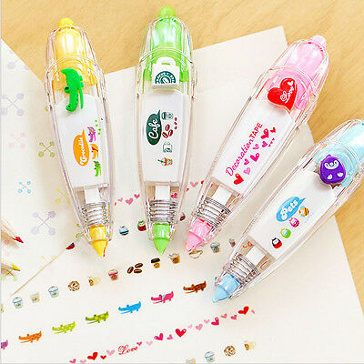 Colourful Stationery Push Correction Tape Lace for Key Tags Sign Students Gifts