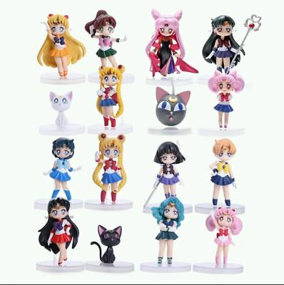 Sailor Moon Crystal 20th anniversary Atsumete Doll Action Figure Set