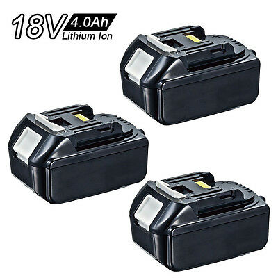 3X 18V 4.0Ah For Makita Lithium-Ion LXT Battery BL1830 BL1840 196399-3 UK Stock