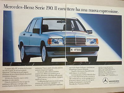* ADVERTISING PUBBLICITA'  MERCEDES-BENZ serie 190 - 1988 VEDI ALTRE DISPONIBILI