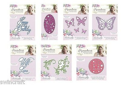 Crafters Companion BUTTERFLY LULLABY COLLECTION Cutting & Embossing Dies *