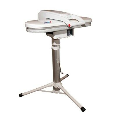 Steam Iron Press 64cm with Height-Adjustable Stand + FREE Cover/Foam RRP £35.00