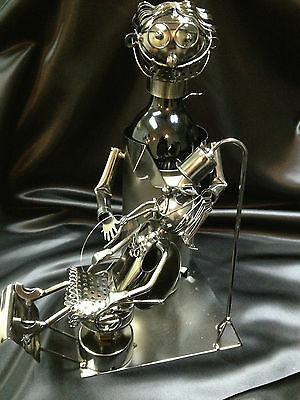 Lady Dentist Wine Bottle Holder By Wine Bodies - 100% Recycled Metal