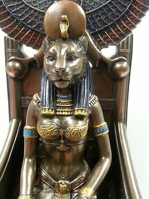 Egyptian Lion Goddess Sekhmet Sehkmet Enthroned Statue Greek Mythos #WU76715A4