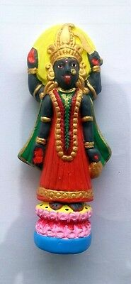 Hindu Goddess Kali Ma 4 inch Hand painted and detailed Puja Statue #MK