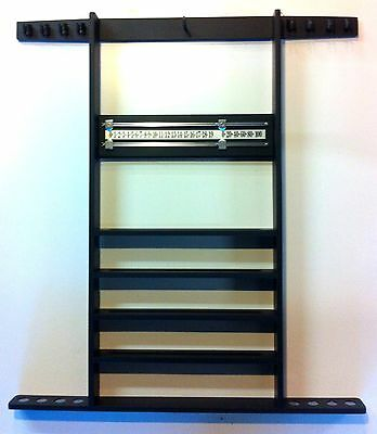 BLACK SNOOKER TABLE CUE RACK, Holds 8 Cues, Balls, Triangle, Snooker Scoreboard