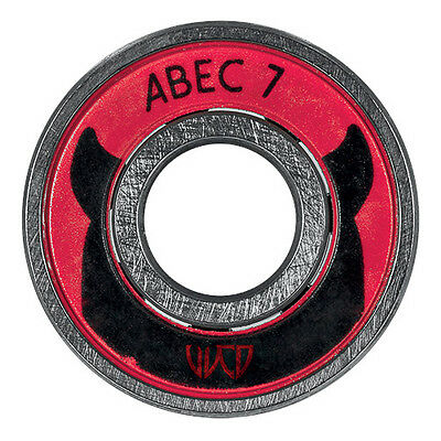 8x Wicked WCD ABEC 7 Kugellager / Bearings 608! made by Powerslide  NEU