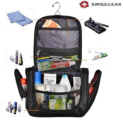 Swiss Gear Toiletries Cosmetic Bag hanging Travel Products Camping Wash totes