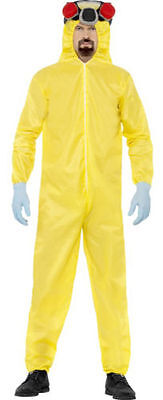 FANCY DRESS MENS BREAKING BAD YELLOW WALTER & JESSE HAZMAT COSTUME (hanging)