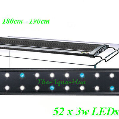 Aquarium Led Overtank Light Saltwater Marine Lighting 180 Cm Extendable 72""