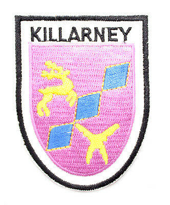 Irish Killarney Crest Shield Embroidered Iron/Sew-on Cloth Badge Patch Appliqué