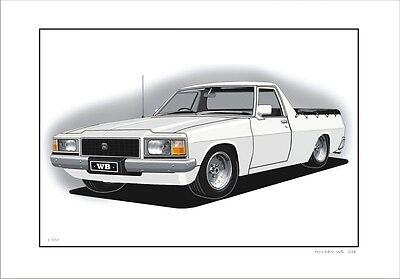 Holden   Wb   Ute     Gmh Classic    Limited Edition    ( 6 Car Colours)