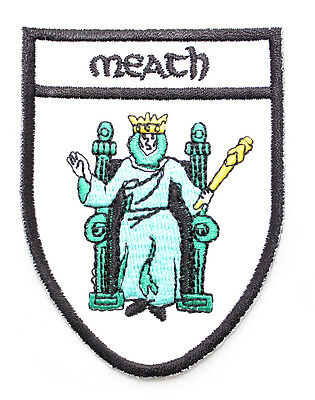 Irish Meath Crest Shield Embroidered Iron / Sew-on Cloth Badge Patch Appliqué