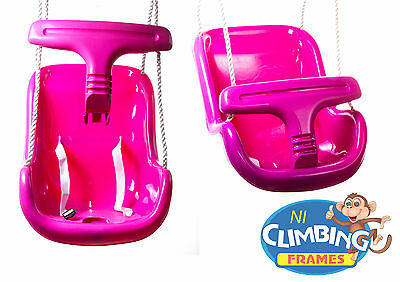 PINK Baby Toddler Deluxe Swing Seat Climbing Frame Set Tree Den Jungle Gym VALUE