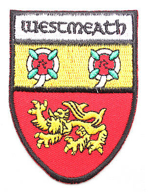 Irish Westmeath Crest Shield Embroidered Iron/Sew-on Cloth Badge Patch Appliqué