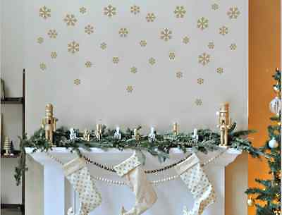 64 x mixed 2,3&4cm Christmas Snowflakes Decoration Wall stickers Wall art Decals
