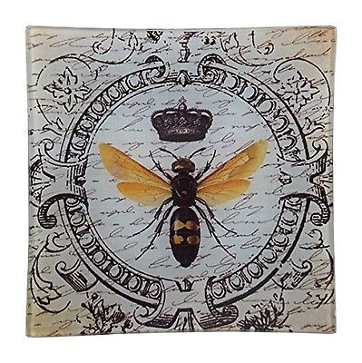 Imperial Honey Bee Square Glass Tray - French Decor